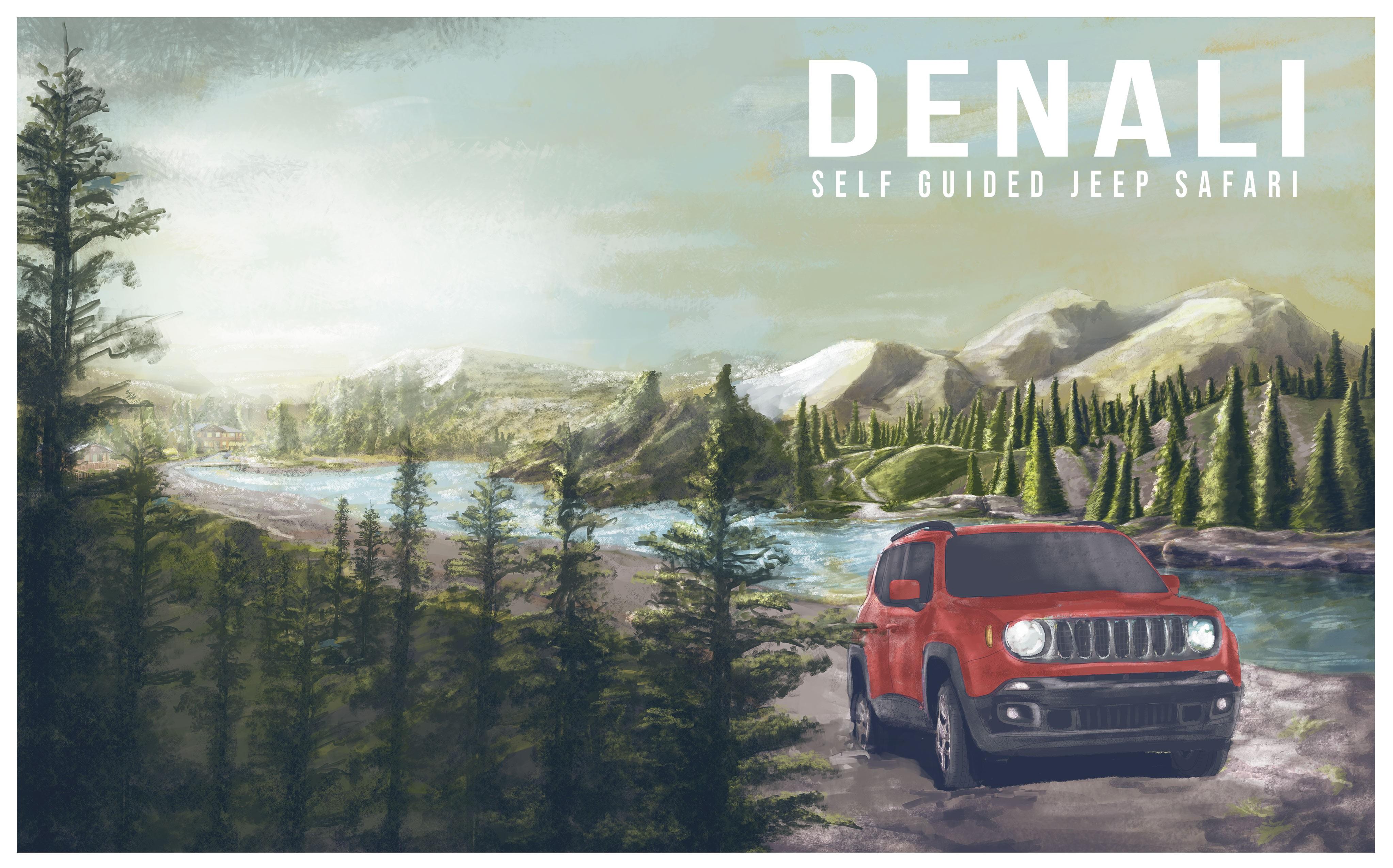 Create cover for souvenir Denali Guide Book