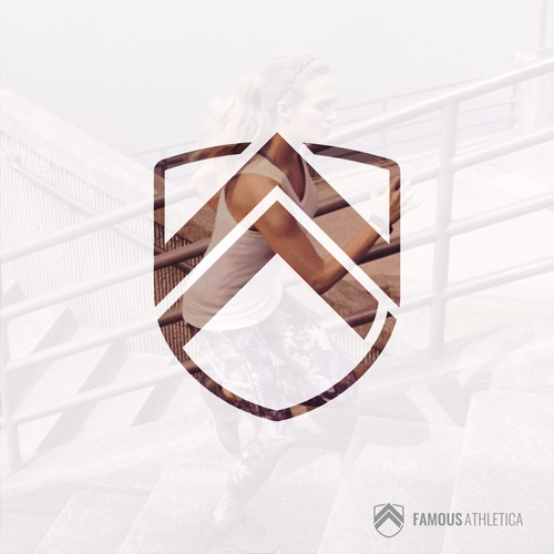 Bold logo concept for Famous Athletica