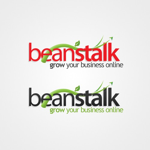 Beanstalk logo for web design company