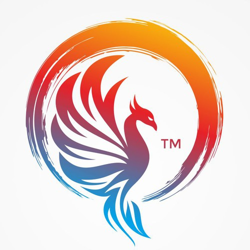 (Avaible for 1-to-1 projects) Logo designs with enso zen circle and phoenix