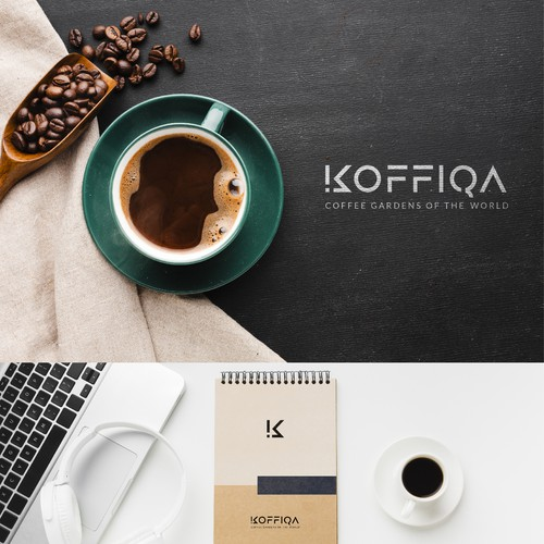Typography logo design concept