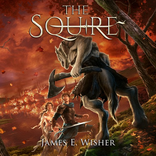 Cover Illustration and Design for The Squire