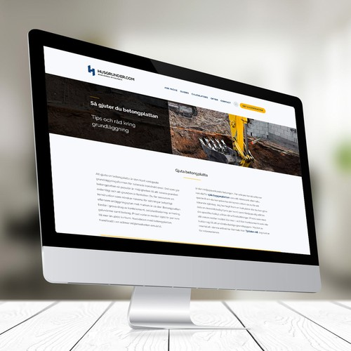 Landing Page Design for Construction