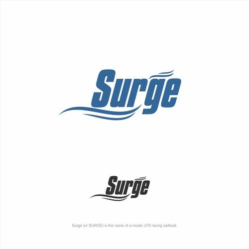 Surge - logo for sail boat