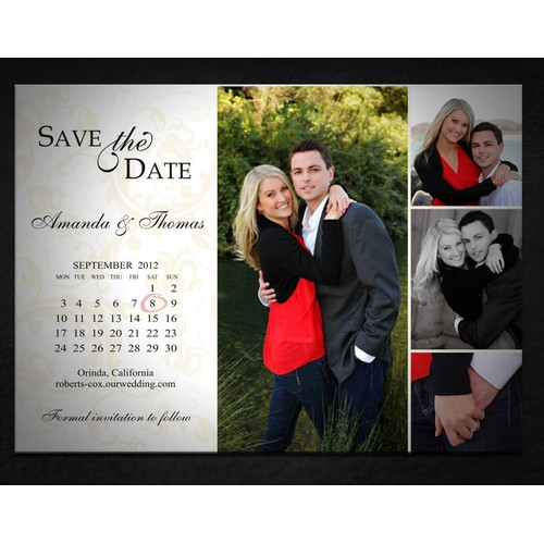 Help Personal Use: Amanda and Thomas Save the Date with a new postcard or flyer
