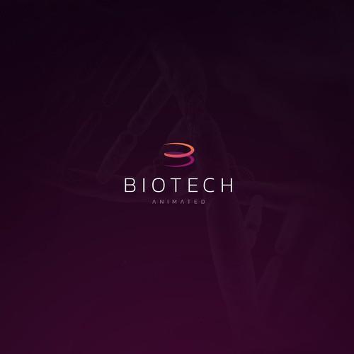 Logo concept for a biotech company