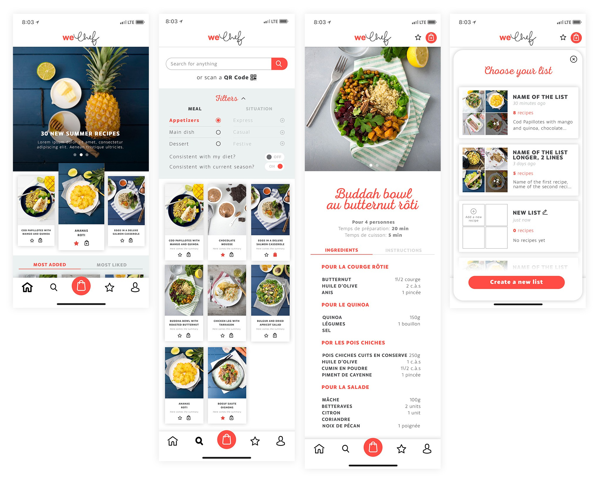 Designing a cooking social network app