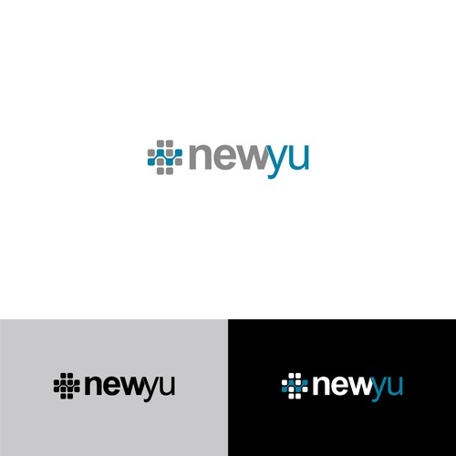 A logo for Newyu, A software development house but focused on medical and pharmaceutical device manufacturers.