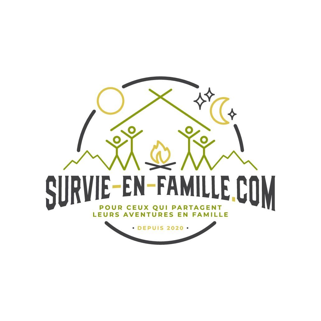 Création d'un logo pour un blog sur la survie et le bivouac en famille