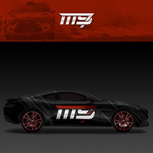 Stealthy and Aggressive Car Racing Logo