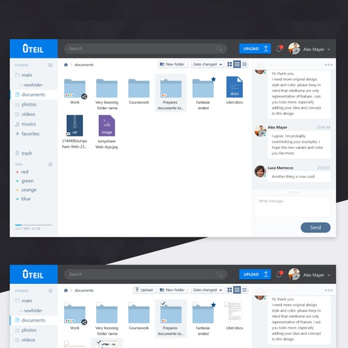 create a beautiful and easy to use interface for a new sharing service