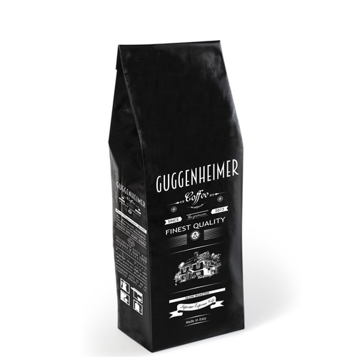 Packaging design for Guggenheimer coffee