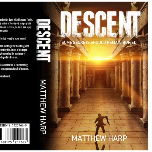 Create an exciting book cover design with a sense of intrigue
