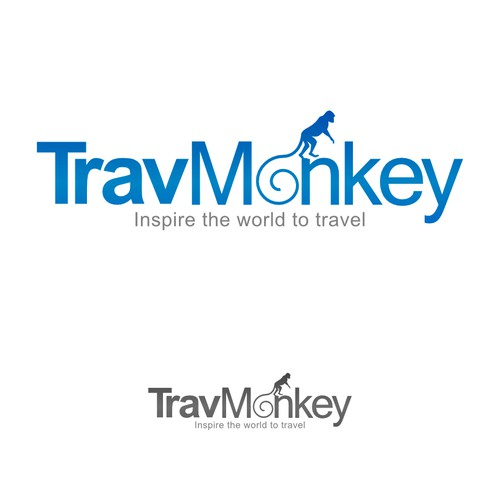 Create a great logo for online travel guides TravMonkey