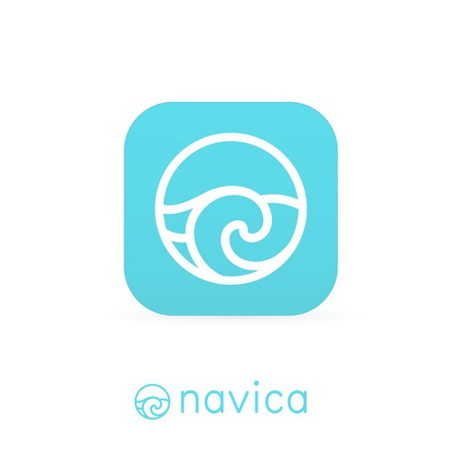 Elegant and clean unique app icon concept for Navica