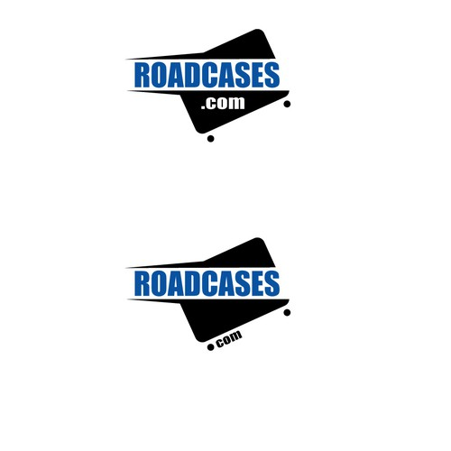 Bold logo for heavy duty wheeled cases for music instruments and electronics