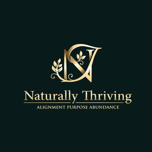 Naturally Thriving Logo for business consultant