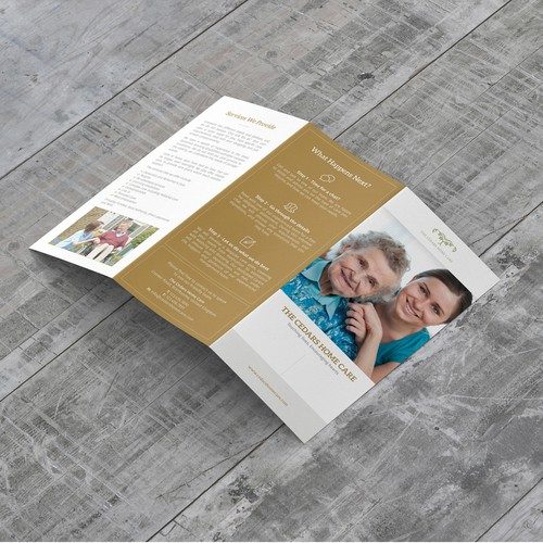 Modern Clean Brochure Concept for The Cedars Home Care
