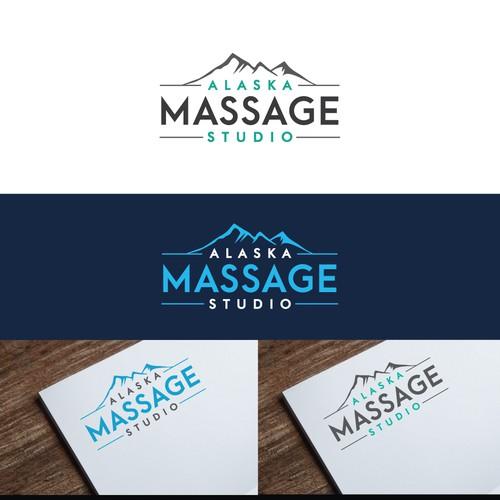 logo concept for Alaska Massage Studio