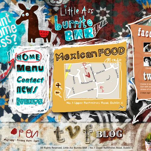 New website design wanted for Little Ass Burrito Bar