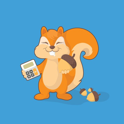 Lovely squirrel character to be used as an app icon