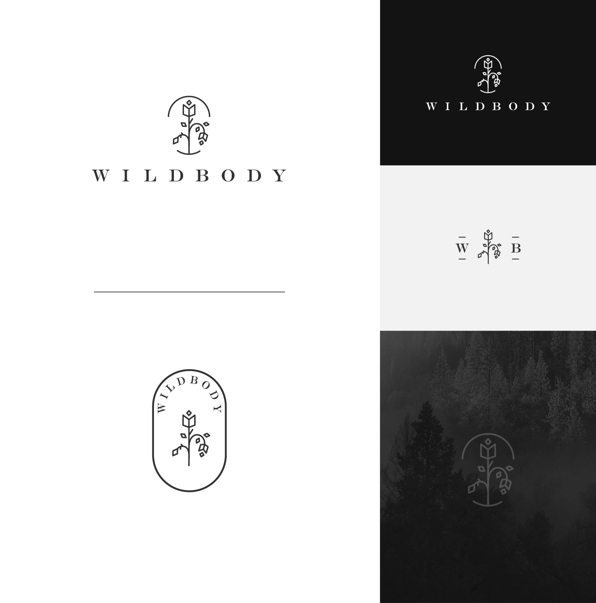 Bold and curvy logo for Wildbody