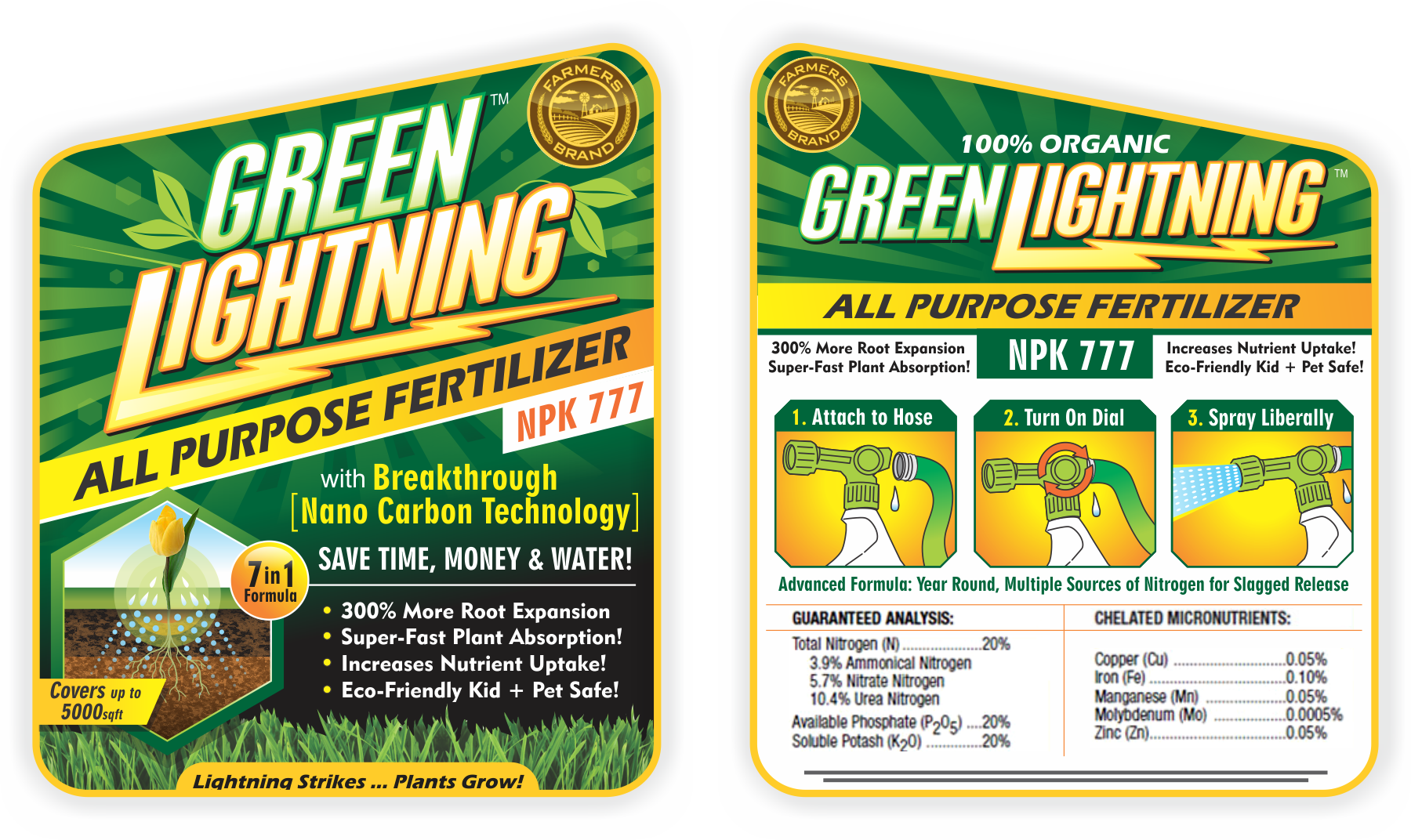 Attention-grabbing label for Green Lightning