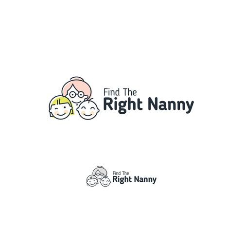 concept logo for nanny search