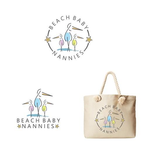 Beach Baby Nanny Logo