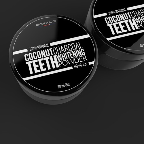 Design label For Charcoal Teeth Whitening Company