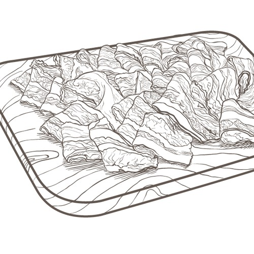 Handdrawn food illustration