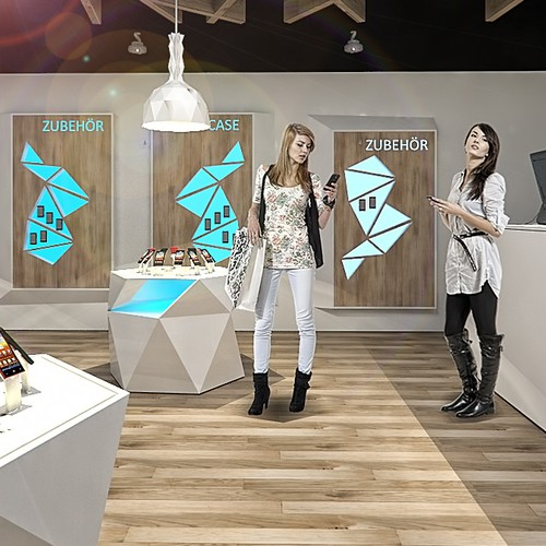 3D interior design for mobile shop