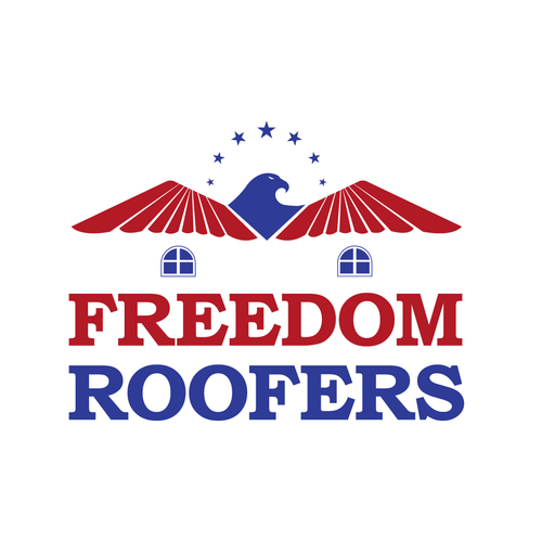 Logo concept for Freedom Roofers