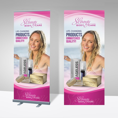 Stand Up Banners for Weight Loss Company