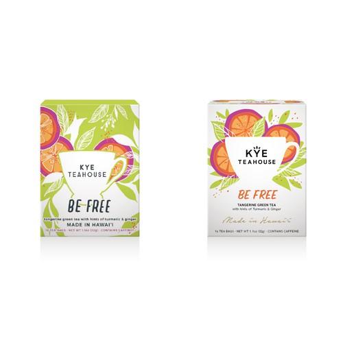 Hawaiian herbal tea redesign
