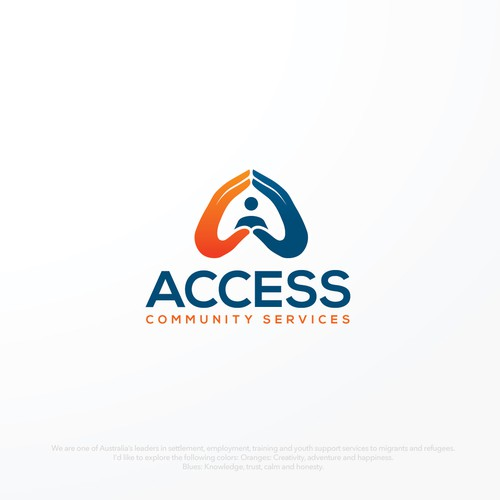 Logo for migrant and refugee non-profit organisation