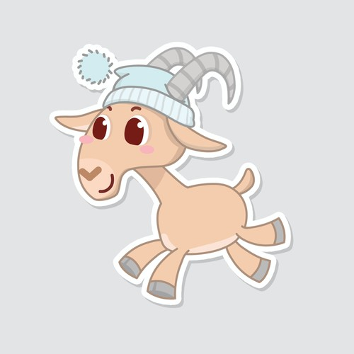 Cute Goat / Ibex Character design