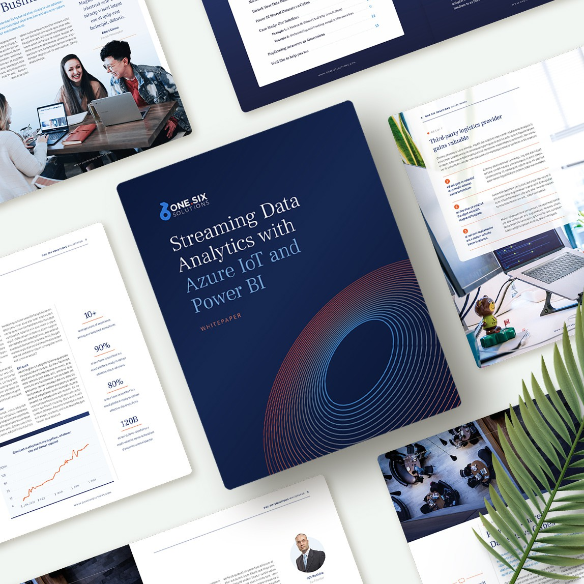 Digital brochure/whitepaper template for data and software consulting company