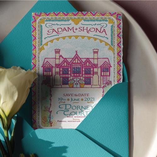 Bollywood inspired wedding invite