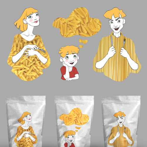 Design some characters for The Pasta People