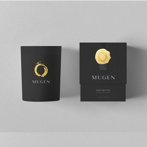 Elegant Candle packaging design for Mugen