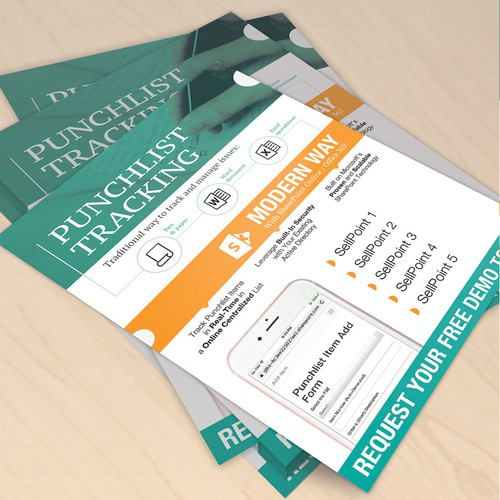 Tracking app flyer for tradeshow