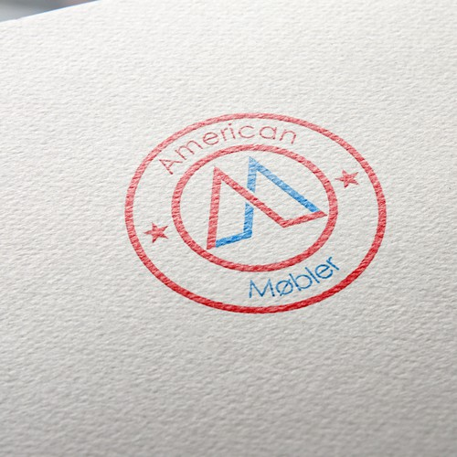 Create a logo and brand identity for a new Modern Furniture design company, American Møbler