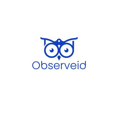 Binocular + owl Logo
