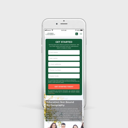 Website design for responsive mobile