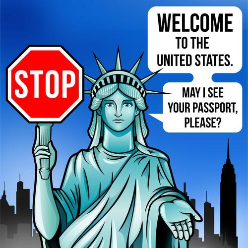 Lady Liberty Illustration