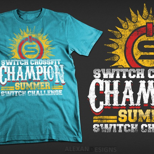 Shirt for winning team in the Switch CrossFit Summer Switch Challenge