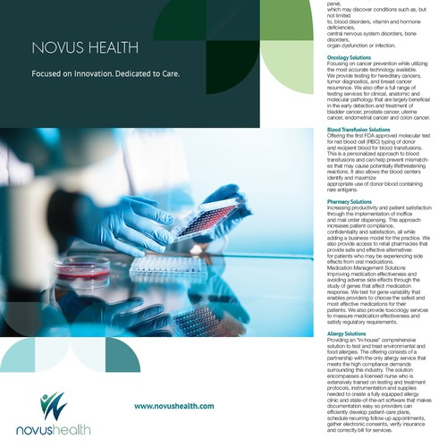 One Page Flyer for Novus Health