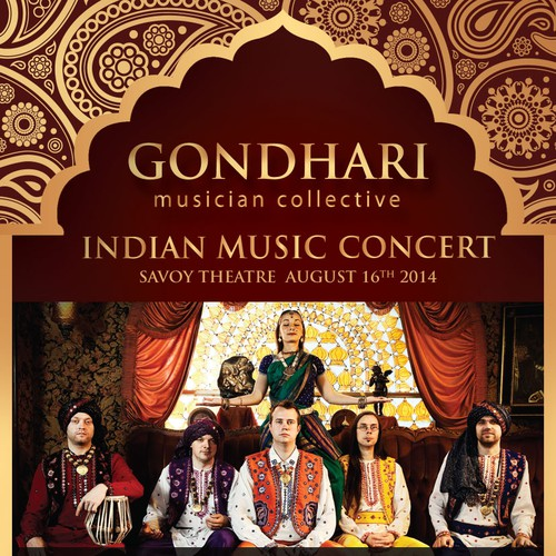 Create a vibrant poster for an Indian music concert!