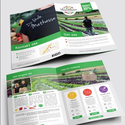 Bifold brochure for LillesandBeste